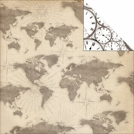 Timeless world map 12x12 scrapbook paper amazon kitchen home timeless world map 12x12 scrapbook paper gumiabroncs