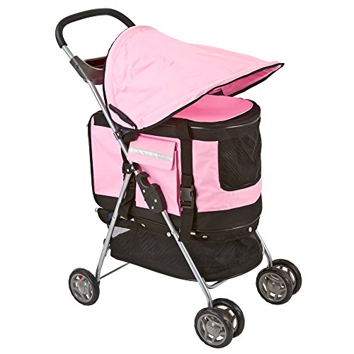Cat Stroller With Detachable Carrier - 1