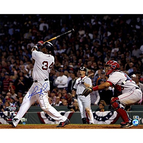 (David Ortiz Autographed Signed Swing vs Angels 16x20 Photo Fanatics/SSM MLB Auth - Authentic Signature)