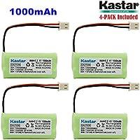 Kastar 4-PACK AAAX2 2.4V 1000mAh 5264 Ni-MH Rechargeable Battery for BT-166342 BT-266342 BT-283342 AT&T EL51100 EL51200 EL51250 EL52200 EL52210 EL52250 EL52300 EL52350 EL52400 EL52450 EL52500 EL52510
