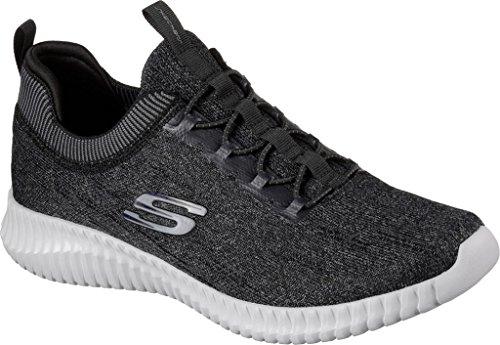 Skechers Elite Flex-Hartnell, Zapatillas de Entrenamiento para Hombre Negro (Black/gray)