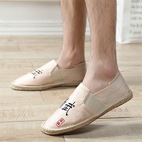 Bottom Low Size F Mens Spring Color Top Shoes Breathable Fashion 2018 Loafers Canvas Hemp Moccasins Shoes 41 New wxS00Fa