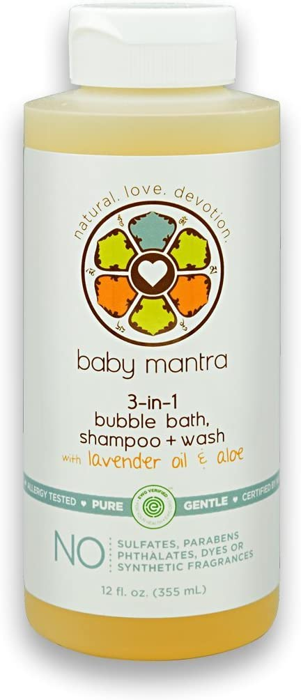 Baby Mantra 3-in-1 Bubble Bath, Shampoo and Body Wash made with Natural