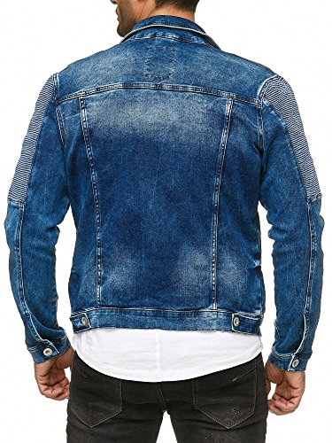 Di Jeans Elegante Motociclista Denim Da Blu Giacca Jeans denim Uomo Redbridge 7nUq5x0