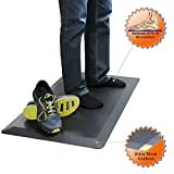 "Boost Industries OrthoMAT32 Anti-Fatigue Non-Slip Comfort Standing Mat for the Modern Health Conscious Work Environment (33"" x 20-1/2"", Carbon Black)"