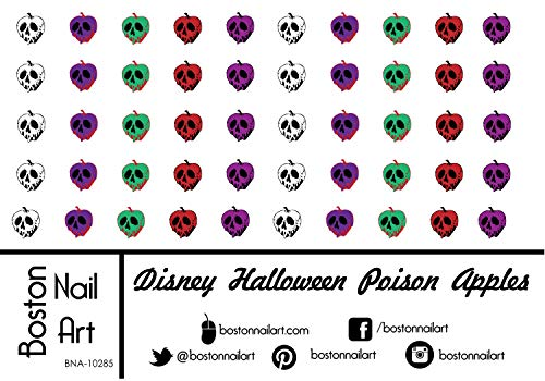 Disney Halloween Poison Apples - Waterslide Nail Decals - 50pc