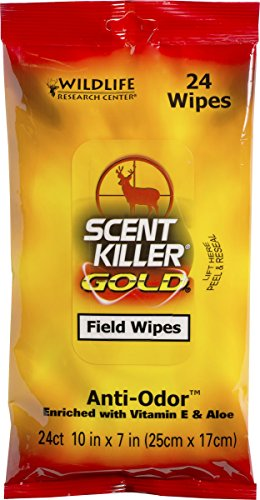 Wildlife Research Scent Killer Field Wipes (24 Pack), Gold