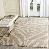 Cheap Safavieh Portofino Shag Collection PTS215B Ivory and Beige Area Rug (5'1 x 7'6)