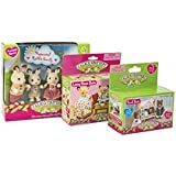 maven gifts calico critters hopscotch rabbit family with bunk beds and living room suite