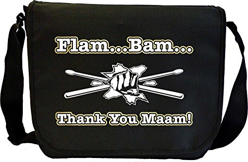 Drum Fist Sticks Flam Bam - Sheet Music Document Bag Musik Notentasche MusicaliTee