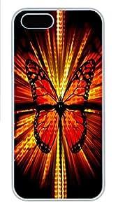 IPhone 5/5S Case Orange Camo HAC1014366 PC Hard Plastic Case for iPhone 5/5S Whtie