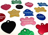 Anodized Pet ID Tags – Bone, Round, Heart, Hydrant, Paw, Star – 8 Colors, My Pet Supplies