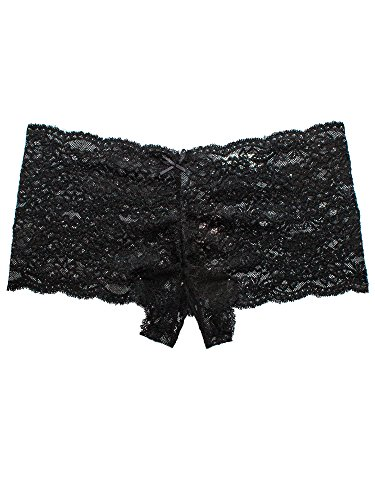aa34d16b8 Barbra Lingerie Crotchless Panties Underwear Women Lace Open Crotch  Boyshort 1pc