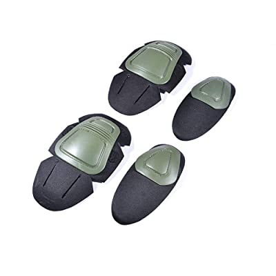 No-branded Protective Gear Sets Knee Pads Elbows Wear Protective Gear Safety for Outdoor Roller Scooter Skateboard Bicycle ZRZZUS (Color : Green, Size : One Size): Home & Kitchen
