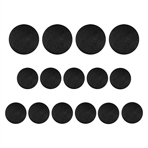 Satin Button - ButtonMode Tuxedo Suit Buttons, Black Smooth Satin, 15-Pack (11 Small, 4 Large)