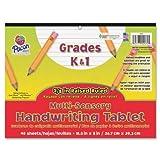 Wholesale CASE of 25 - Pacon Grade K-1 Multi-sensory Handwriting Tablet-Sensory Writing Tablet, 8''x10-1/2'', 40Shts/PK, White