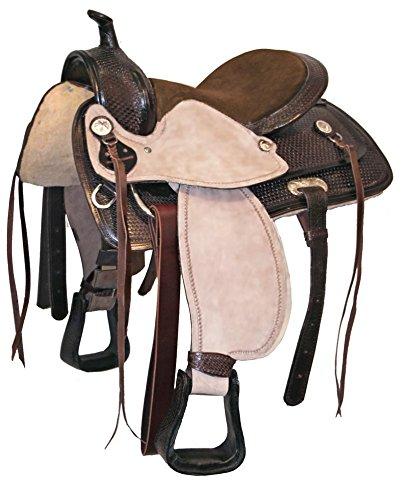 Tahoe Performance Western Saddle For Trail Riding Tan Medium Oil Plain 15quot