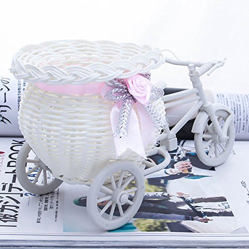 Gold Happy White Tricycle Bike Design Flower Basket Storage Container For Party Wedding Birthday Gifts by Gold Happy (Image #2)