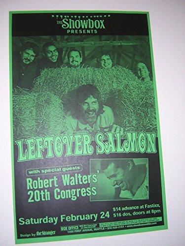 (Leftover Salmon Robert Walters Rare Original Seattle Showbox Concert Tour Poster)