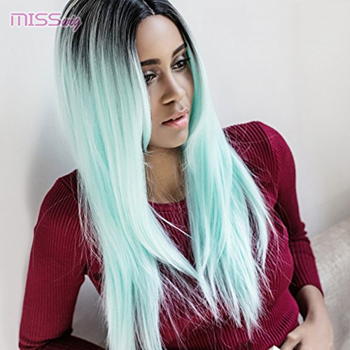 Amazon Com Misswig Wigs For Women Ombre Synthetic Hair Long