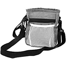 Dog Treat Training Pouch Built-in Poop Bags Dispenser, Pet Snack Bag, Puppy Training Walking Waist Pouch Bag, Easy Storage Pet Food, Snack,Toys Outdoor Training Activities(Grey)
