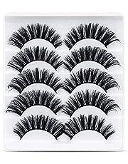 URAQT Valse Wimpers, 5 Paar 3d-wimpers Met Natuurlijke Look, Nepwimpers Van Namaakmink, Herbruikbaar, Handgemaakte Zachte Wimpers Voor Make-upwimpersverlenging
