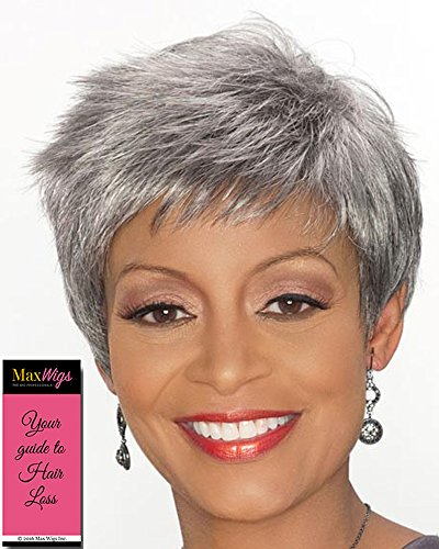 Regina Wig Color 3T51 - Foxy Silver Wigs Short Pixie Synthetic Layered Spikes Flipped Ends African American Womens Lightweight Average Cap Bundle with MaxWigs Hairloss - Layered Spike