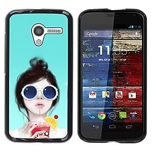 LECELL -- Funda protectora / Cubierta / Piel For Motorola Moto X 1 1st GEN I XT1058 XT1053 XT1052 XT1056 XT1060 XT1055 -- British Girl --