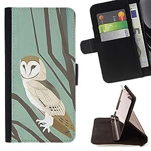 """For Motorola Moto E ( 1st Generation ),S-type Escuela en colores pastel de la acuarela del trullo de Brown"""" - Dibujo PU billetera de cuero Funda Case Caso de la piel de la bolsa protectora"""