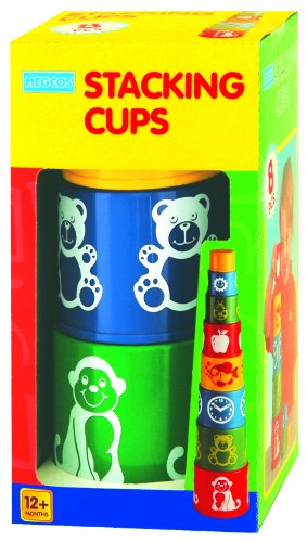 megcos Stacking Printed Cups, 8-Piece, Baby & Kids Zone