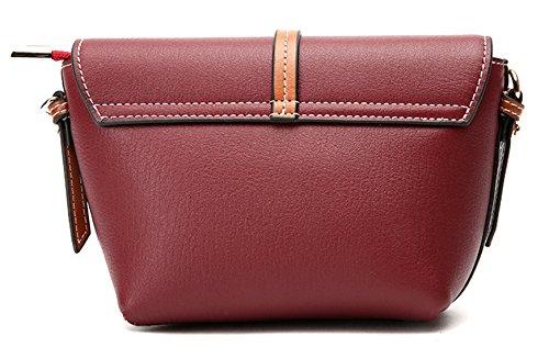 spalla Grande Rosso di Donna Sacchetti Borse Pelle rosso SAIERLONG Vera Crossbody Vino azw74gnqxT