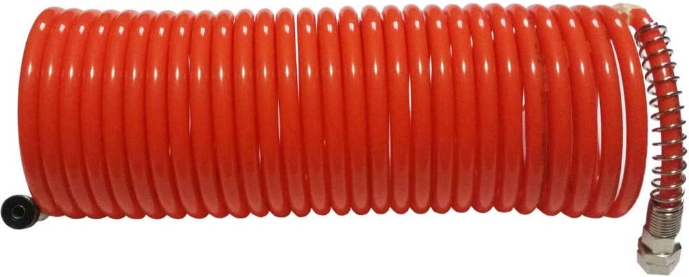 Alargador de tubo de aire comprimido espiral 10 metros con enganches r/ápidos compresor