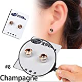 WensLTD 1 Pair Weight Loss Earrings Crystal Slimming Healthy Acupoints Stud Magnetic Therapy (H)