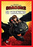Paper Magic 32CT Showcase How to Train Your Dragon 2 (HTTYD2) Kids Classroom Valentine Exchange Cards