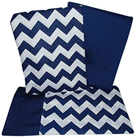 Baby Doll Bedding Chevron Pillowcase and Sheet set for Crib and Toddler bed, Black 705CSS