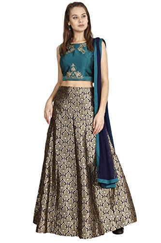 Manmandir Womens Cotton Silk Ghagra Choli Set Readymade (Salwar Suits for (Ghagra Choli)