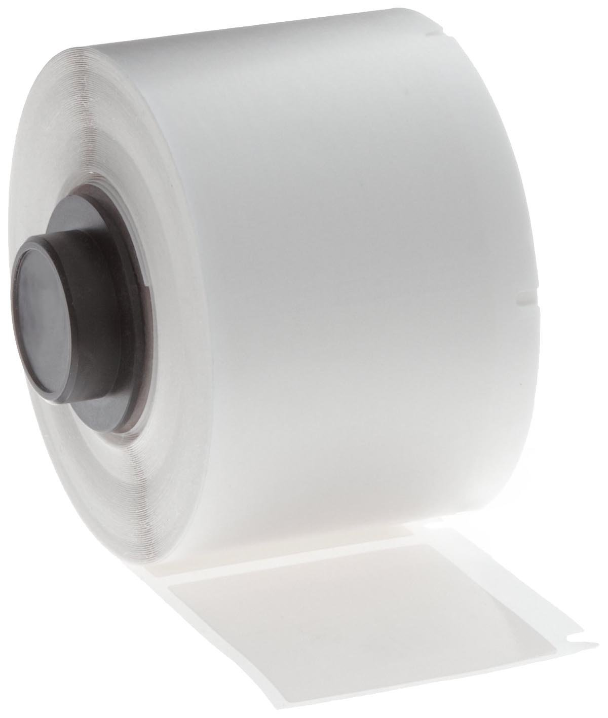 Brady PTL-29-498 TLS 2200 And TLS PC Link 0.5 Height B-498 Repositionable Vinyl Cloth 1.5 Width 500 Per Roll White Color Label