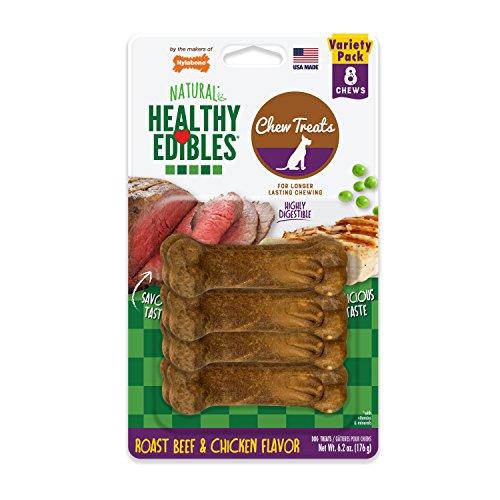 Nylabone Healthy Edibles Petite Variety Pack, 8 Count