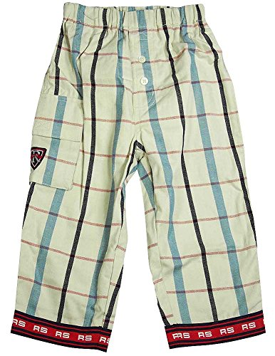 Regatta - Little Girls Plaid Twill Pant, Cream, Red, Navy (Plaid Twill Pant)