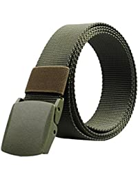 Nylon Military Tactical Mens Waist Belt with Double Plastic buckles