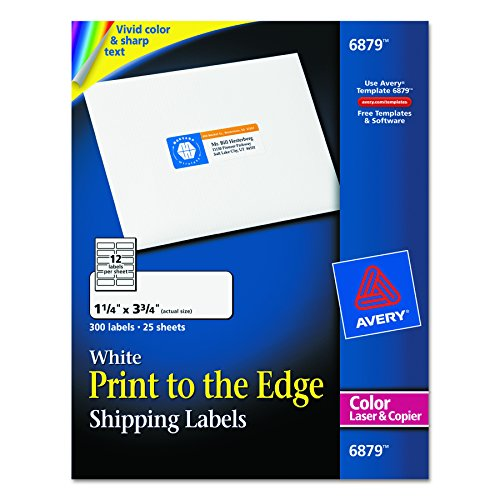 Amazon Avery Laser Labels Matte Mailing 3 34 X 1 14
