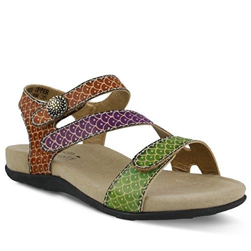 L'Artiste by Spring Step Women's NOVATO Sandals, green 5, 37 M EU (US 6.5-7) -
