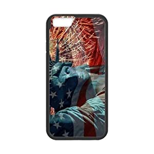 K-G-X Phone case For Apple Iphone 6 Plus 5.5 inch screen Cases Case-Pattern-13 American Statue Of Liberty Protective Back Case