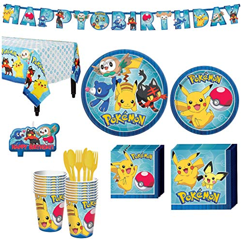 Pokemon Core Birthday Party Kit Includes Happy Banner And Candles Serves 16 By City
