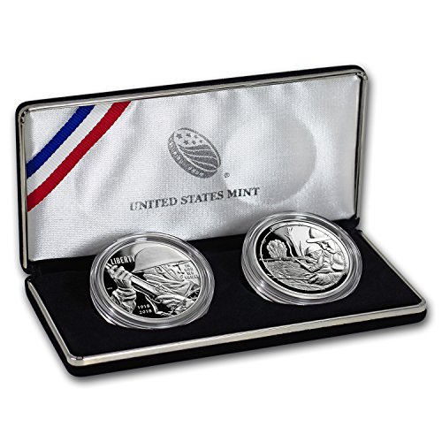 (2018 P World War I Centennial Silver Dollar Army Medal Set Brilliant Uncirculated)