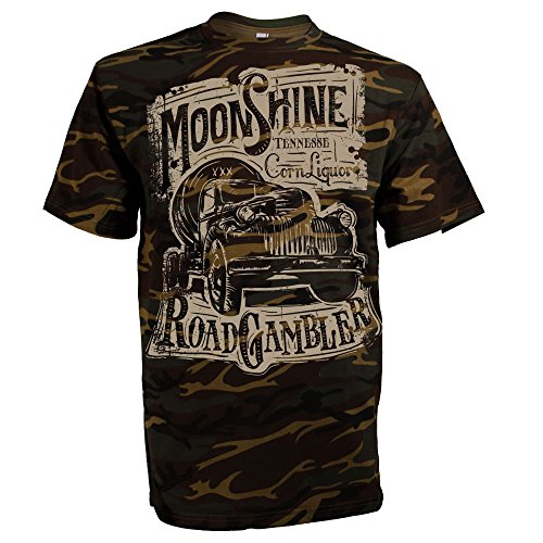 ROAD RODEO Shirt, Army, Camouflage, Survival, Pick Up, Schnaps, Moonshine