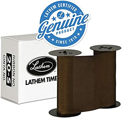 Amazon.com: Lathem LT Series Time Stamp Replacement Ribbon, Metal Frame, Purple (20-S): Office Products
