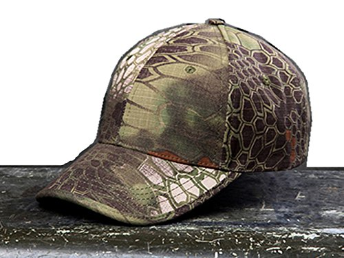 Camo Hunting Cap - Noga Python Camouflage Hat Simplicity Outdoor Sun Hat Army Hat Woodland Camo Outdoor Tactical Cap for Fishing Hiking Hunting (Mountain python Camouflage)