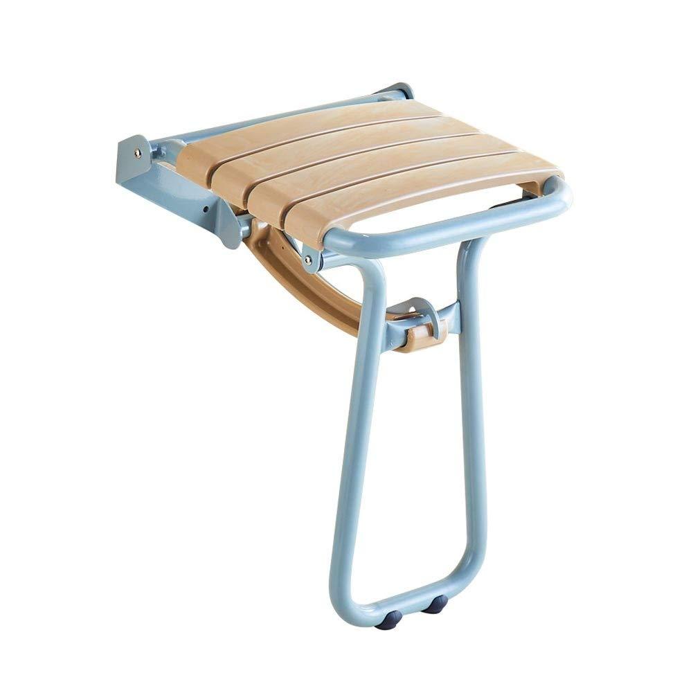 Folding Wall-Mounted Shower Chair,Elderly/Pregnant Women Bathroom Non-Slip Bath Chair,Bearing Capacity 300kg