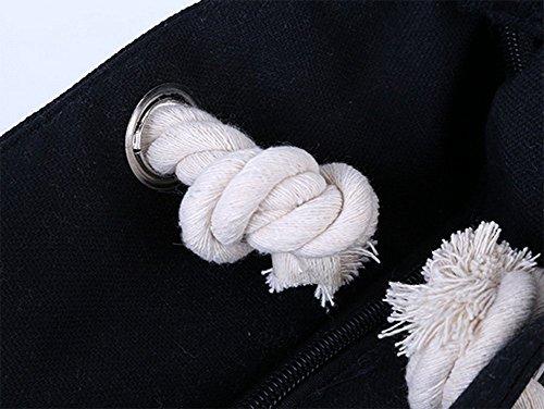 Poignée Rouge Blanc Simple Épaisse à Corde Sacs de Sac Doitsa Loisirs Rouge Mode Plage Grande de Lycéenne Loisirs Femmes Etudiante Main Rayure Sacs Cabas Rose Blanc Cours wBwqI1g